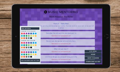 Music Mentoring Portfolio Web App